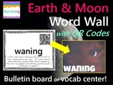 Earth and Moon Word Wall {with QR Codes}