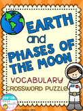 Earth and Phases of the Moon Vocabulary Crossword Puzzle Activity