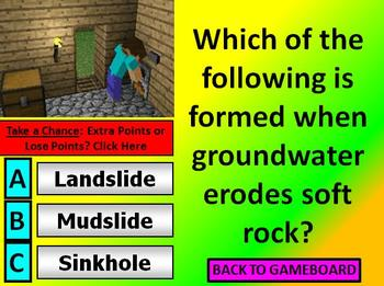 Earth and Physical Science CRCT REVIEW COMMON CORE Minecraft Theme POWERPOINT