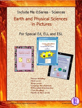 Earth and Physical Sciences (Simplified) in Pictures for Special Ed., ELL & ESL