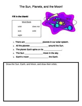 Earth and Planets Orbit Assessment Handout