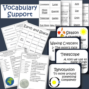 Earth and Space BUNDLE PowerPoint, Worksheets, Vocabulary, Flashcards, Quizzes