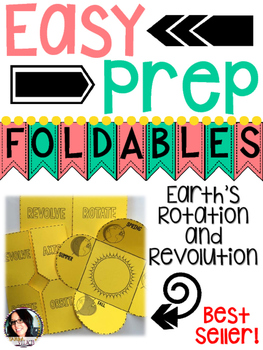 Earth and Space: Earth's Rotation and Revolution (Seasons) Foldables
