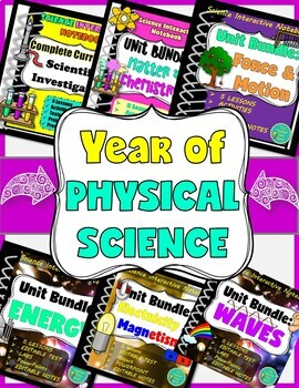 Earth and Space, Physical, and Life Science Interactive Notebook (3 Years)