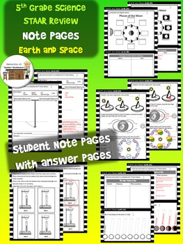 Earth and Space Review Activity Pages (TEKS)