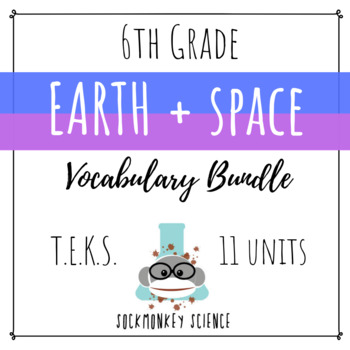 Earth and Space Science BUNDLE - 6th Grade Science Vocabulary