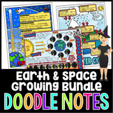 Earth and Space Science Doodle Notes Growing Bundle