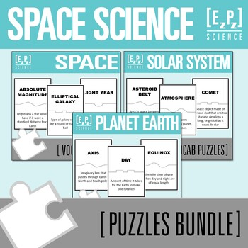 Earth and Space Science Puzzles Bundle