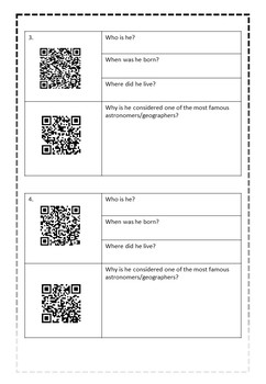 Earth and Space Science - QR CODE Famous Astronomers/Geographers scavenger hunt!