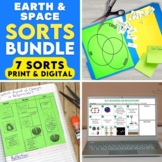 Earth and Space Science Print and Digital Sorting Activities