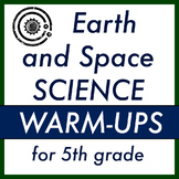 Earth and Space Science Warm-ups for 5th grade (5 weeks)