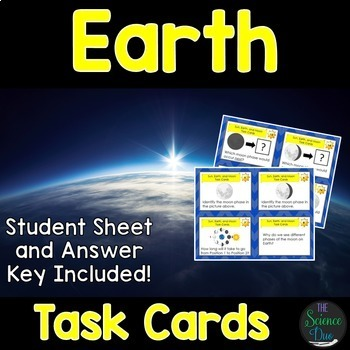 Earth and Space Task Cards Bundle
