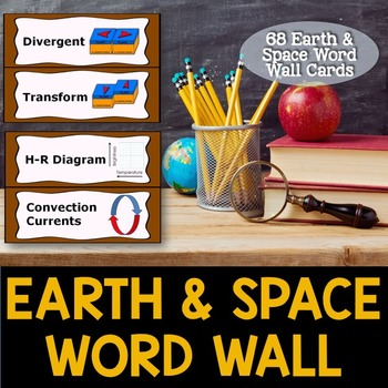 Earth and Space Word Wall Cards