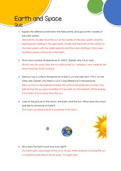 Earth and Space_Quiz