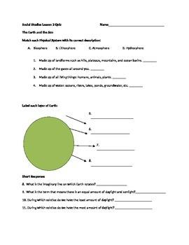 Earth and Sun Quiz