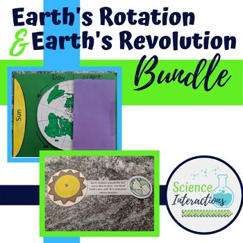 Earth and Sun Relationships Bundle: Rotation and Revolution Interactive Notes