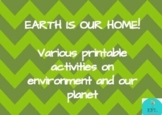 Environment/earth day activities printable book with certificate of appreciation
