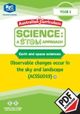 Earth and space sciences including STEM project – Year 1