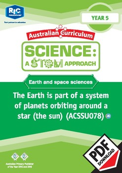 Earth and space sciences including STEM project – Year 5