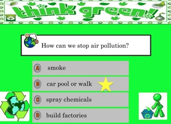 Earth conservation (Earth Day) powerpoint and test