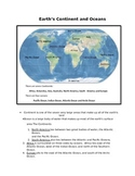 Earth continents and oceans for 2nd Grade