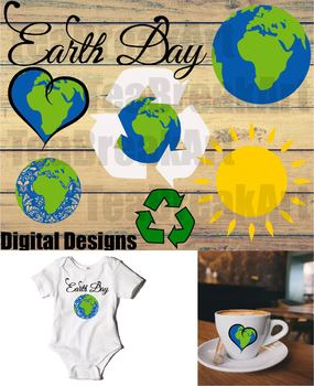 Earth day Digital Cutting File eps svg dxf png ClipArt save earth 723C