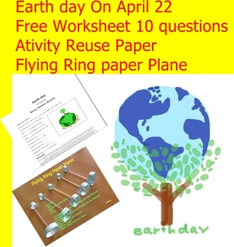 "FREEBIE Worksheets Earth Day  ""Love The Earth EveryDay"""