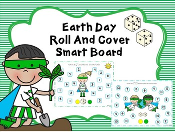 Earth day Roll And Cover For SMART Board