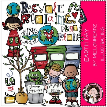 Melonheadz: Earth Day clip art - COMBO PACK