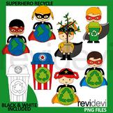 Earth day clip art - Superhero Recycle Clipart - Go green