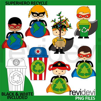 Earth day clip art - Superhero Recycle Clipart - Go green