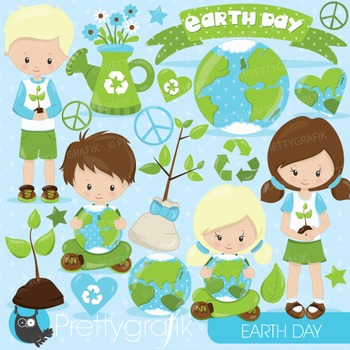 Earth day clipart commercial use, vector graphics, digital - CL826