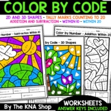 Earth day (color by shapes, counting, addition and subtraction)