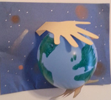 Earth day craft, promise and writing prompts