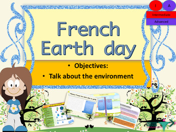 French Earth day the environment PPT for intermediate