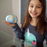 Earth day paper globe and FREE Earth Day fact sheet and pledge sheet