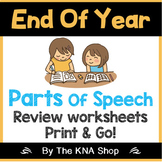 Earth day (parts of speech review worksheets)