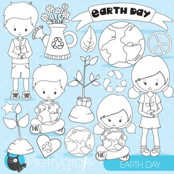 Earth day stamps commercial use, vector graphics, images - DS826