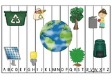Earth day themed Alphabet Sequence Preschool Phonics Puzzle Game.