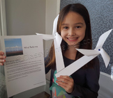 Earth day wind turbine windmill and FREE Earth Day fact sheet and pledge sheet