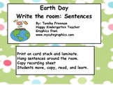Earth day write the room sentences.