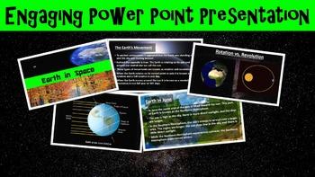 Earth in Space No Prep Lesson with Worksheet, Power Point, and Word Search
