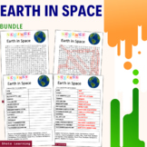 Earth in Space Science Activity - Bundle Scramble Word Fin