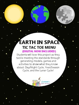 Earth in Space Tic Tac Toe Choice Menu