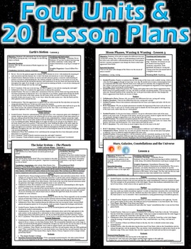 Earth in Space and Time Mega Bundle Unit (20 Lessons - 4 Unit Bundle)