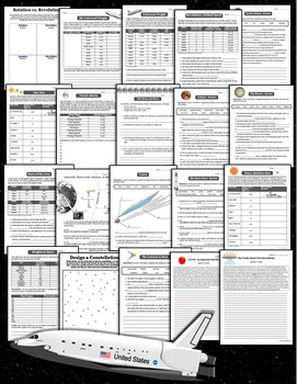 Earth in Space and Time - Printables Pack (Activities, Writing Prompts & More)