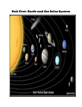 Earth in the Solar System Unit Test