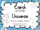 Earth in the Universe- Moon and Stars Writing
