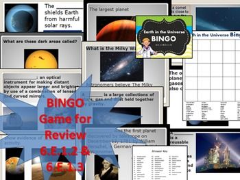 Earth in the Universe / Solar System BINGO REVIEW
