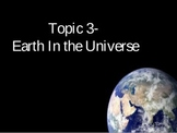 Earth in the Universe Unit ppt Notes